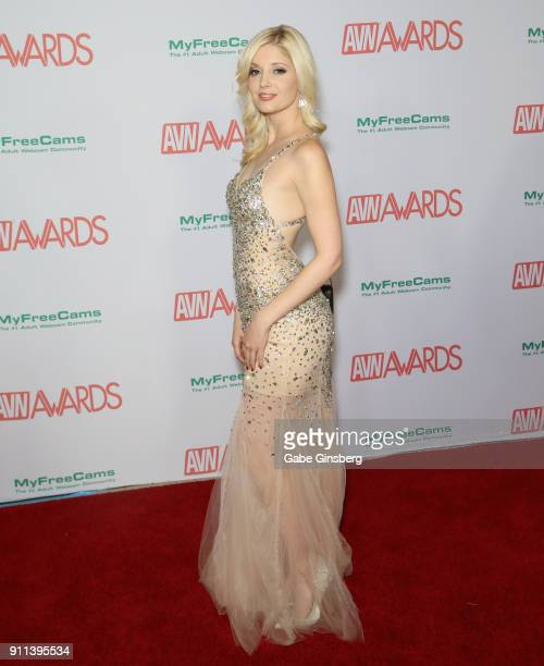Adult film actress Charlotte Stokely attends the 2018 Adult Video News Awards at the Hard Rock Hotel Casino on January 27 2018 in Las Vegas Nevada