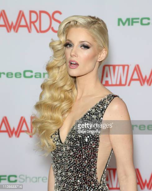 Adult film actress Charlotte Stokely attends the 2019 Adult Video News Awards at The Joint inside the Hard Rock Hotel Casino on January 26 2019 in...