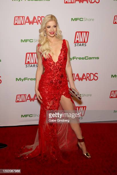 Adult film actress Charlotte Stokely attends the 2020 Adult Video News Awards at The Joint inside the Hard Rock Hotel Casino on January 25 2020 in...