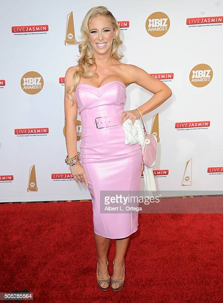 Adult film actress Cherie Deville arrives for the 2016 XBIZ Awards held at JW Marriott Los Angeles at L.A. LIVE on January 15, 2016 in Los Angeles,...