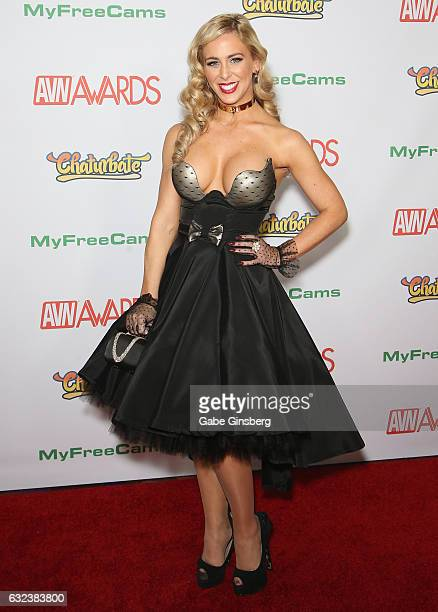 Adult film actress Cherie DeVille attends the 2017 Adult Video News Awards at the Hard Rock Hotel Casino on January 21 2017 in Las Vegas Nevada