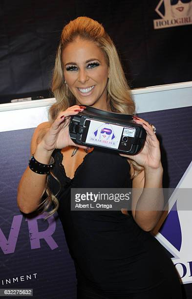 Adult film actress Cherie DeVille attends the 2017 AVN Adult Entertainment Expo at the Hard Rock Hotel & Casino on January 20, 2017 in Las Vegas,...