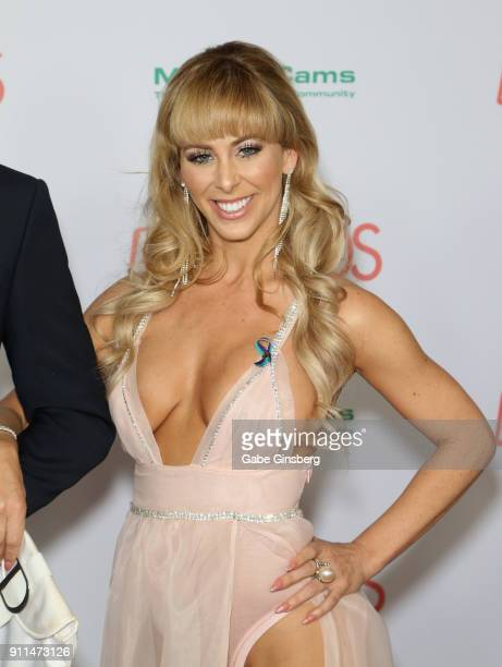 Adult film actress Cherie DeVille attends the 2018 Adult Video News Awards at the Hard Rock Hotel Casino on January 27 2018 in Las Vegas Nevada