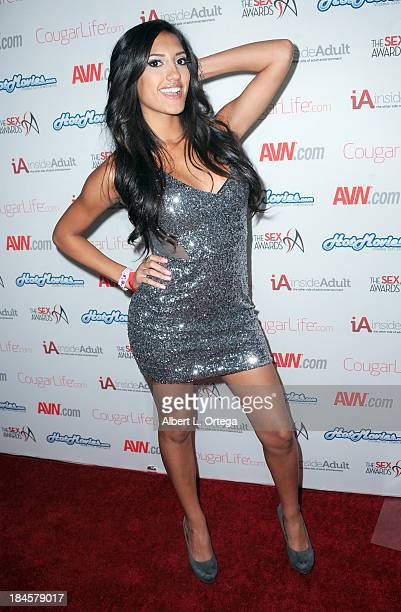 Adult film actress Chloe Amour arrives for The 1st Annual Sex Awards 2013 held at Avalon on October 9 2013 in Hollywood California