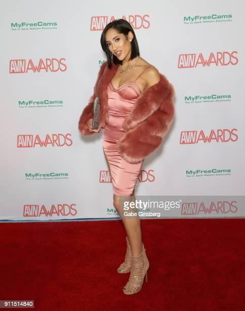Adult film actress Chloe Amour attends the 2018 Adult Video News Awards at the Hard Rock Hotel Casino on January 27 2018 in Las Vegas Nevada