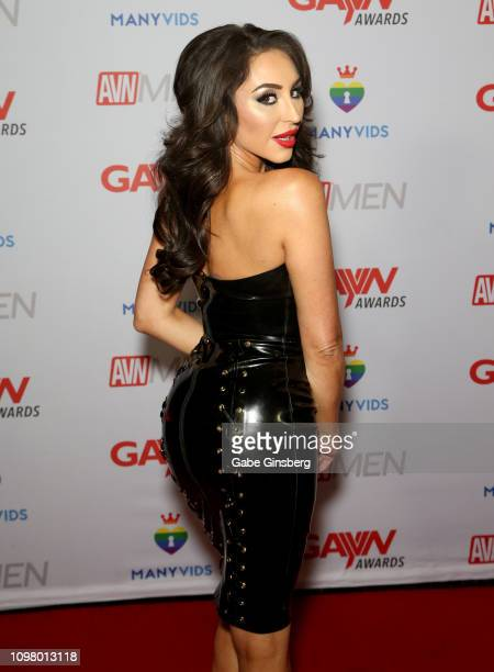 Adult film actress Christiana Cinn attends the 2019 GayVN Awards show at The Joint inside the Hard Rock Hotel Casino on January 21 2019 in Las Vegas...