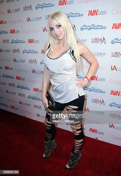 Adult film actress Christie Stevens arrives for The 1st Annual Sex Awards 2013 held at Avalon on October 9 2013 in Hollywood California