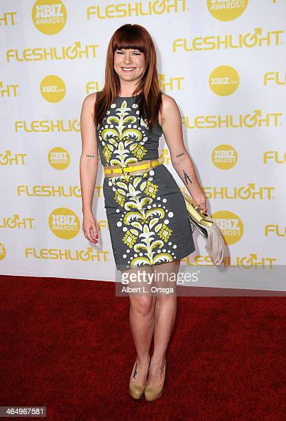 Adult film actress Claire Robbins arrives for the 2014 XBIZ Awards held at The Hyatt Regency Century Plaza Hotel on January 24 2014 in Century City...