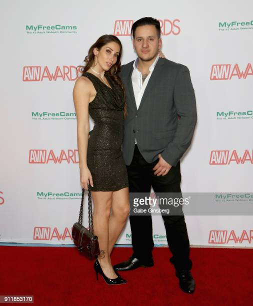 Adult film actress Clea Gaultier and adult film actor/director Anthony Gaultier attend the 2018 Adult Video News Awards at the Hard Rock Hotel Casino...