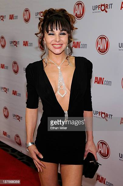 Adult film actress Cytherea arrives at the 29th annual Adult Video News Awards Show at the Hard Rock Hotel & Casino January 21, 2012 in Las Vegas,...