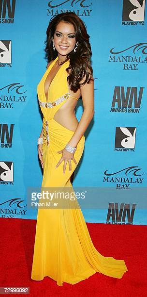 Adult film actress Daisy Marie arrives at the 24th annual Adult Video News Awards Show at the Mandalay Bay Events Center January 13, 2007 in Las...