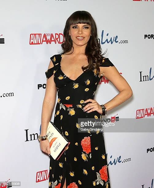 Adult film actress Dana DeArmond arrives at the 2015 Adult Video News Awards at the Hard Rock Hotel Casino on January 24 2015 in Las Vegas Nevada