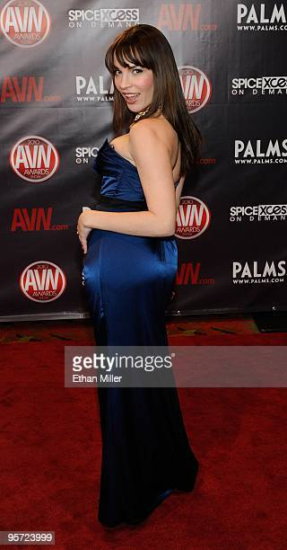 Adult film actress Dana DeArmond arrives at the 27th annual Adult Video News Awards Show at the Palms Casino Resort January 9 2010 in Las Vegas Nevada