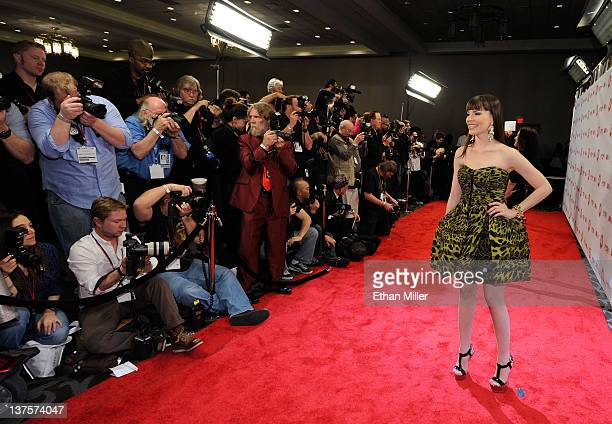 Adult film actress Dana DeArmond arrives at the 29th annual Adult Video News Awards Show at the Hard Rock Hotel Casino January 21 2012 in Las Vegas...
