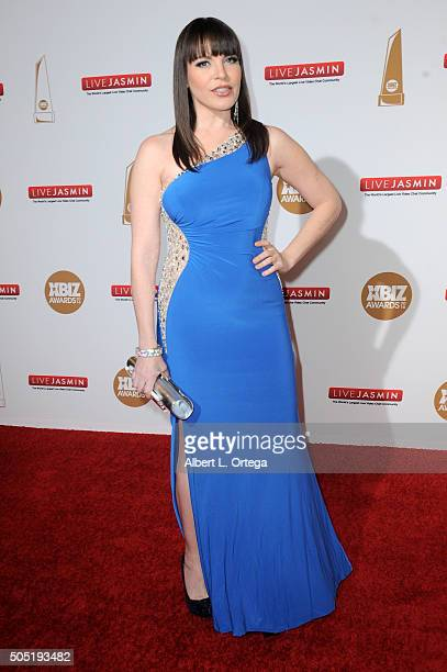Adult film actress Dana DeArmond arrives for the 2016 XBIZ Awards held at JW Marriott Los Angeles at LA LIVE on January 15 2016 in Los Angeles...