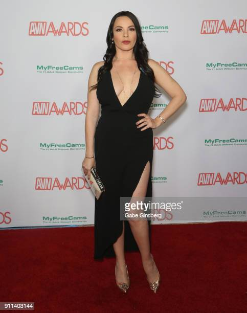 Adult film actress Dana DeArmond attends the 2018 Adult Video News Awards at the Hard Rock Hotel Casino on January 27 2018 in Las Vegas Nevada