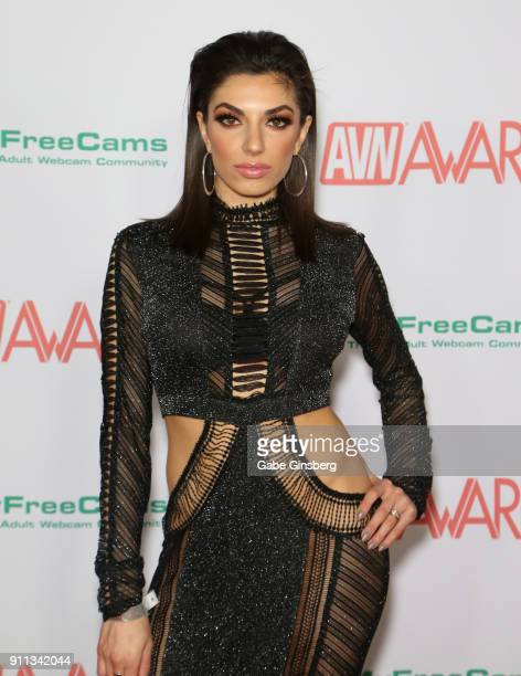 Adult film actress Darcie Dolce attends the 2018 Adult Video News Awards at the Hard Rock Hotel Casino on January 27 2018 in Las Vegas Nevada