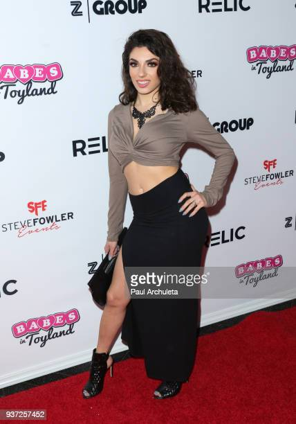 Adult Film Actress Darcie Dolce attends the 4th annual 'Babes In Toyland' Pet Gala benefiting 'Operation Blankets Of Love' at Avalon on March 21 2018...