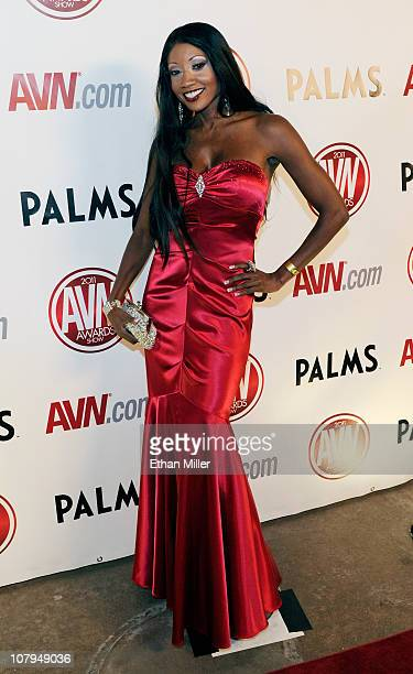 Adult film actress Diamond Jackson arrives at the 28th annual Adult Video News Awards Show at the Palms Casino Resort January 8 2011 in Las Vegas...