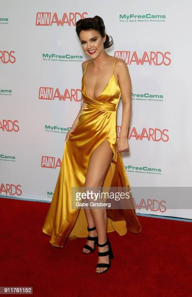 Adult film actress Dillion Harper attends the 2018 Adult Video News Awards at the Hard Rock Hotel Casino on January 27 2018 in Las Vegas Nevada