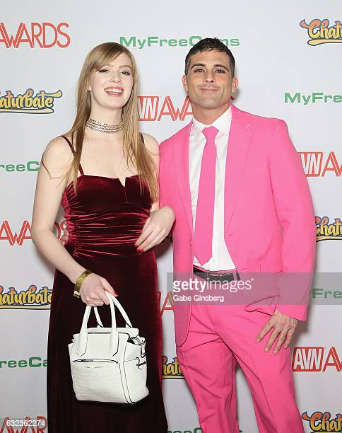 Adult film actress Dolly Leigh and adult film actor Lance Hart attend the 2017 Adult Video News Awards at the Hard Rock Hotel Casino on January 21...