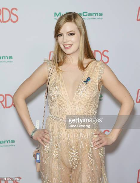 Adult film actress Dolly Leigh attends the 2018 Adult Video News Awards at the Hard Rock Hotel Casino on January 27 2018 in Las Vegas Nevada