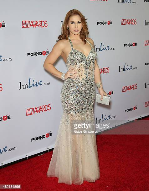 Adult film actress Edyn Blair arrives at the 2015 Adult Video News Awards at the Hard Rock Hotel Casino on January 24 2015 in Las Vegas Nevada