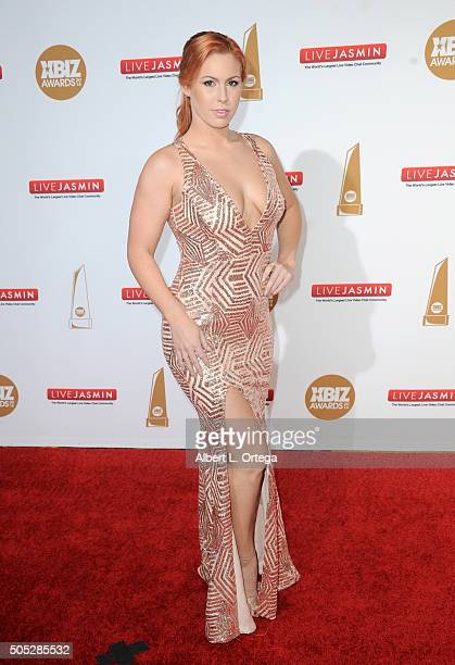 Adult film actress Edyn Blair arrives for the 2016 XBIZ Awards held at JW Marriott Los Angeles at LA LIVE on January 15 2016 in Los Angeles California