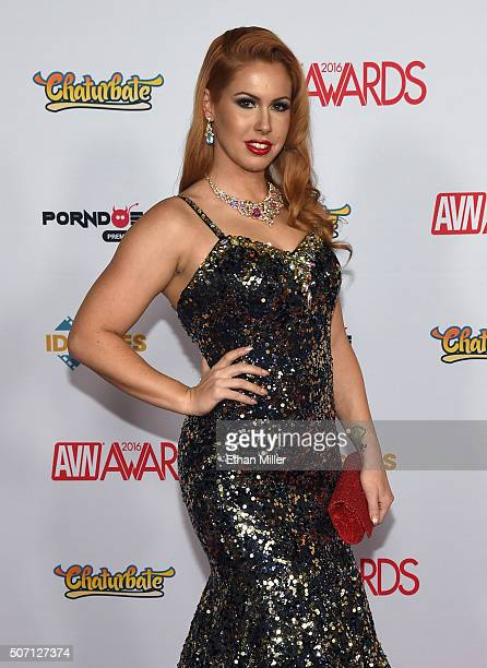 Adult film actress Edyn Blair attends the 2016 Adult Video News Awards at the Hard Rock Hotel Casino on January 23 2016 in Las Vegas Nevada