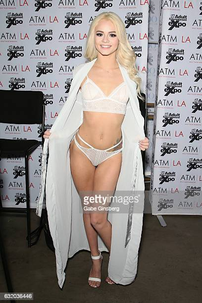 Adult film actress Elsa Jean attends the 2017 AVN Adult Entertainment Expo at the Hard Rock Hotel Casino on January 18 2017 in Las Vegas Nevada