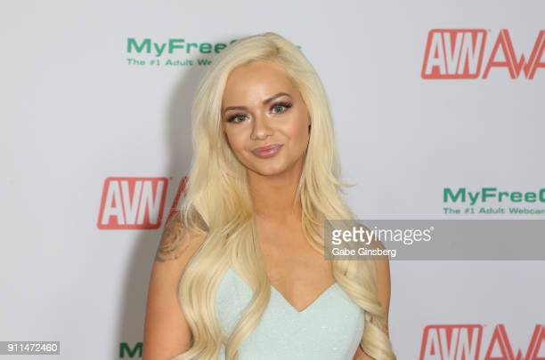 Adult film actress Elsa Jean attends the 2018 Adult Video News Awards at the Hard Rock Hotel Casino on January 27 2018 in Las Vegas Nevada
