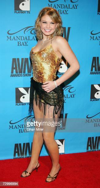 Adult film actress Emily Evermore arrives at the 24th annual Adult Video News Awards Show at the Mandalay Bay Events Center January 13, 2007 in Las...