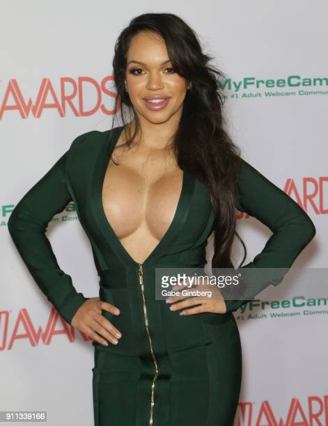 Adult film actress Emily Mena attends the 2018 Adult Video News Awards at the Hard Rock Hotel Casino on January 27 2018 in Las Vegas Nevada