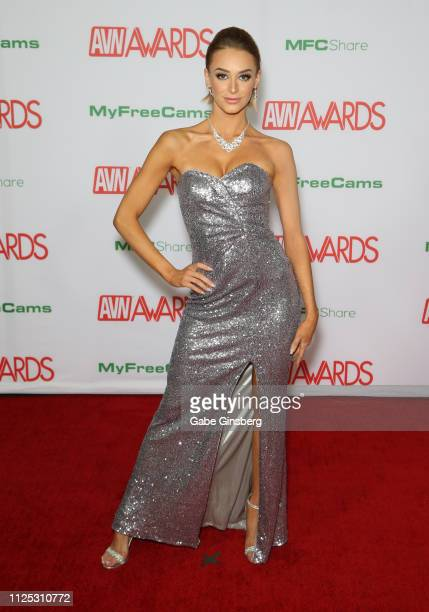 Adult film actress Emma Hix attends the 2019 Adult Video News Awards at The Joint inside the Hard Rock Hotel Casino on January 26 2019 in Las Vegas...
