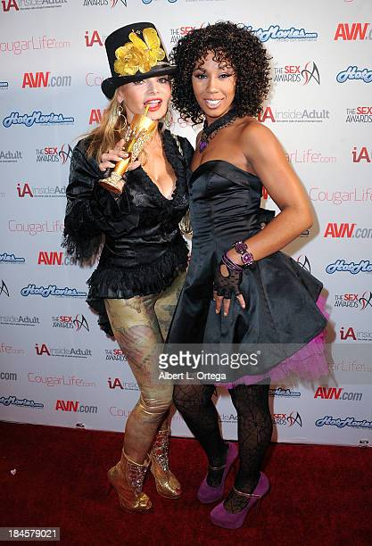 Adult film actress Erica McLean and Misty Stone arrive for The 1st Annual Sex Awards 2013 held at Avalon on October 9 2013 in Hollywood California