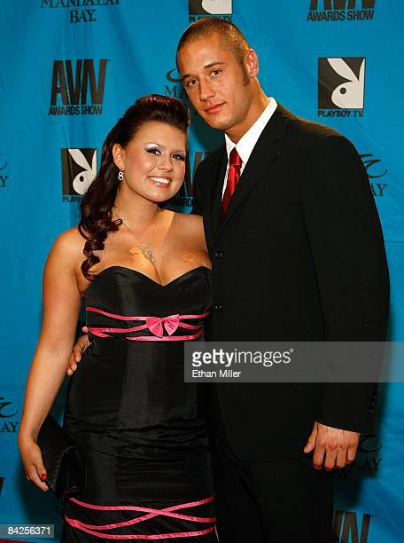 Adult film actress Eva Angelina and her husband adult film actor Danny Mountain arrive at the 26th annual Adult Video News Awards Show at the...