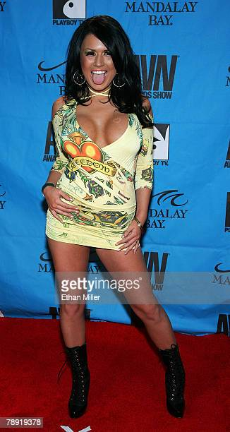 Adult film actress Eva Angelina arrives at the 25th annual Adult Video News Awards Show at the Mandalay Bay Events Center January 12 2008 in Las...