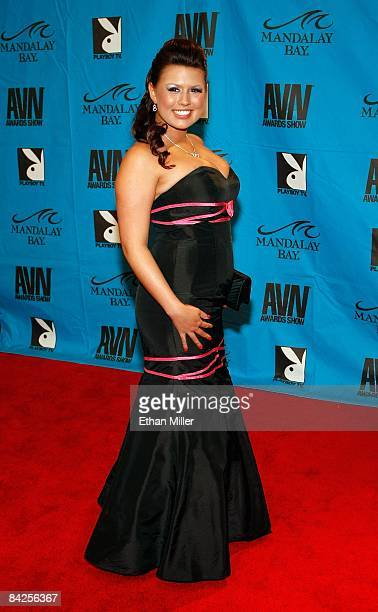 Adult film actress Eva Angelina arrives at the 26th annual Adult Video News Awards Show at the Mandalay Bay Events Center January 10 2009 in Las...