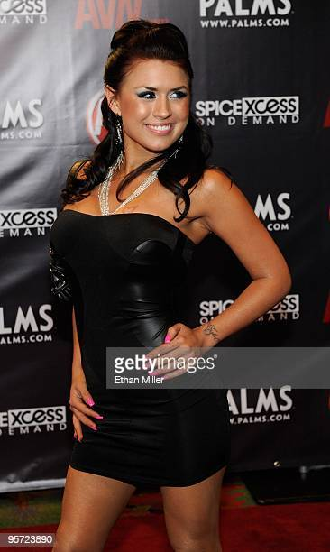 Adult film actress Eva Angelina arrives at the 27th annual Adult Video News Awards Show at the Palms Casino Resort January 9 2010 in Las Vegas Nevada