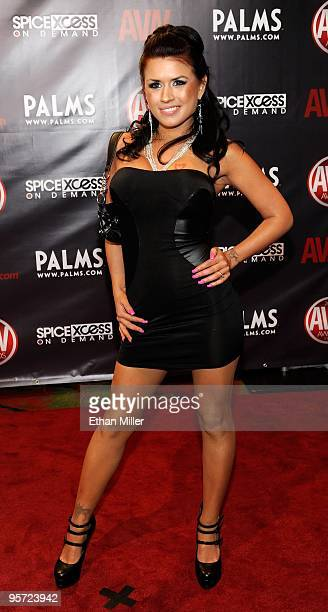 Adult film actress Eva Angelina arrives at the 27th annual Adult Video News Awards Show at the Palms Casino Resort January 9, 2010 in Las Vegas,...
