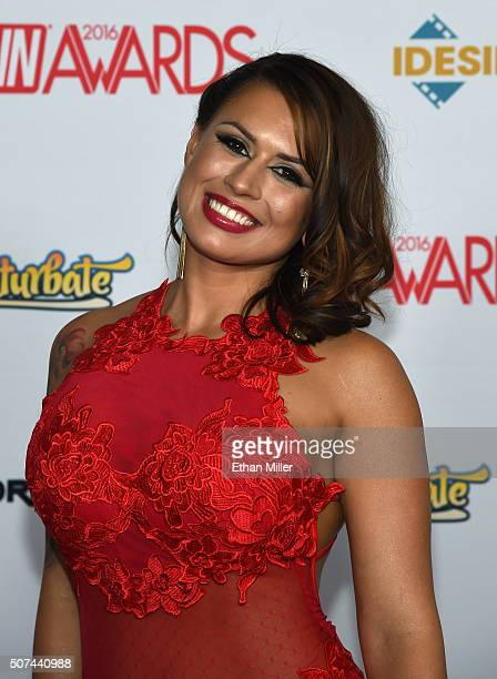 Adult film actress Eva Angelina attends the 2016 Adult Video News Awards at the Hard Rock Hotel Casino on January 23 2016 in Las Vegas Nevada