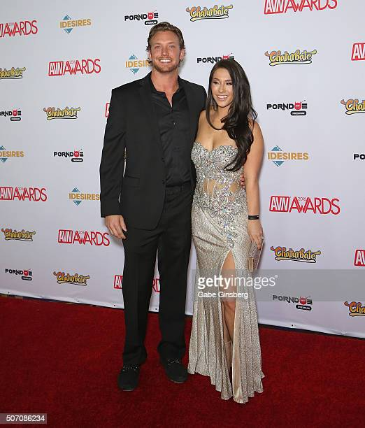Adult film actress Eva Lovia and Erik Horbacz attend the 2016 Adult Video News Awards at the Hard Rock Hotel & Casino on January 23, 2016 in Las...