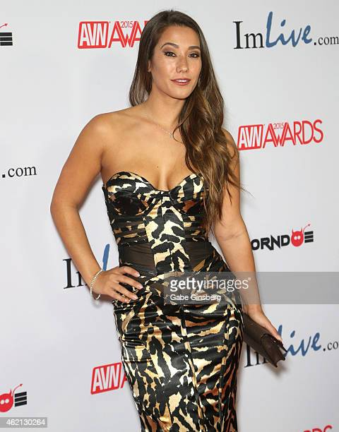 Adult film actress Eva Lovia arrives at the 2015 Adult Video News Awards at the Hard Rock Hotel & Casino on January 24, 2015 in Las Vegas, Nevada.