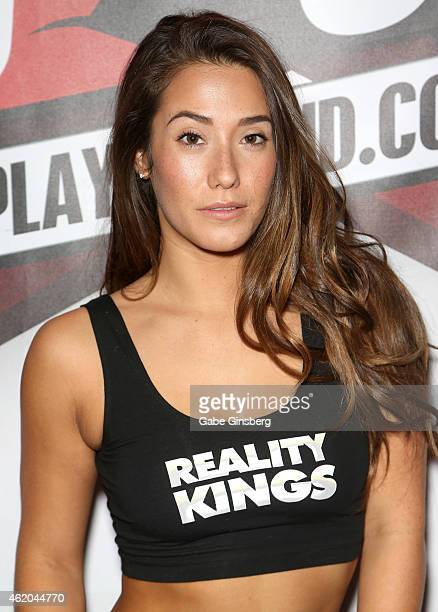 Adult film actress Eva Lovia attends the 2015 AVN Adult Entertainment Expo at the Hard Rock Hotel & Casino on January 23, 2015 in Las Vegas, Nevada.