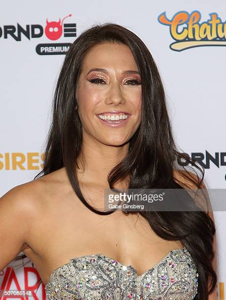 Adult film actress Eva Lovia attends the 2016 Adult Video News Awards at the Hard Rock Hotel & Casino on January 23, 2016 in Las Vegas, Nevada.
