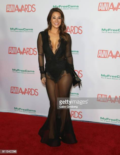 Adult film actress Eva Lovia attends the 2018 Adult Video News Awards at the Hard Rock Hotel & Casino on January 27, 2018 in Las Vegas, Nevada.