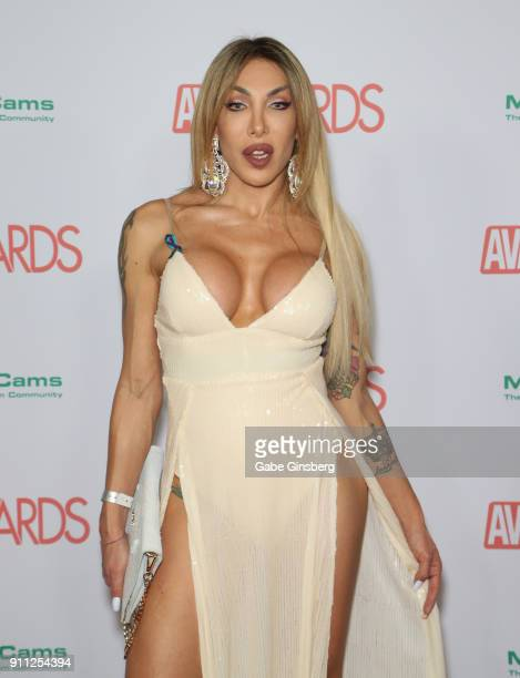 Adult film actress Eva Paradis attends the 2018 Adult Video News Awards at the Hard Rock Hotel Casino on January 27 2018 in Las Vegas Nevada