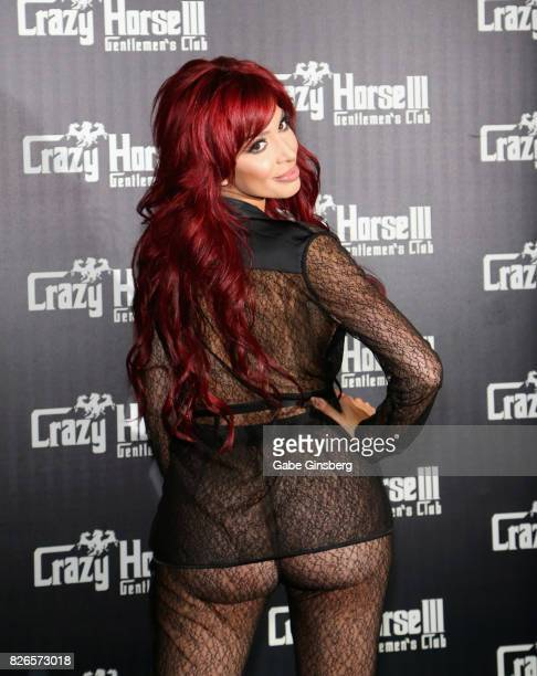 Adult film actress Farrah Abraham arrives at the Crazy Horse III Gentlemen's Club to host a VIP Back Door Key Party celebrating the launch of the...