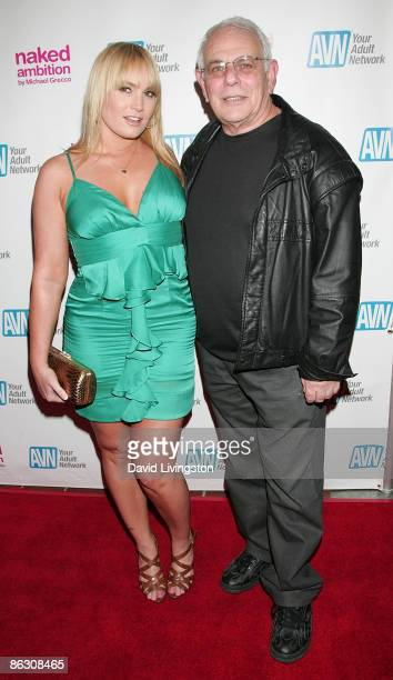 "Adult film actress Flower Tucci and TV personality Stevie Glasser attend the premiere of the documentary ""Naked Ambition: An R Rated Look at an X..."