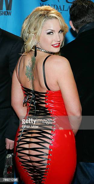 Adult film actress Flower Tucci arrives at the 25th annual Adult Video News Awards Show at the Mandalay Bay Events Center January 12, 2008 in Las...